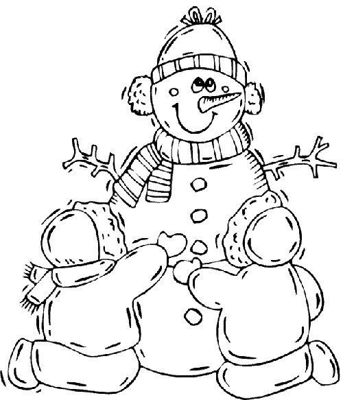 Desene De Colorat Pentru Copii Cu Oameni De Zapada