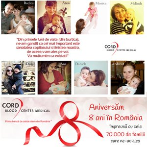 Cord Blood Center Medical România aniversează 8 ani de existență