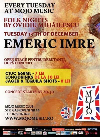Emeric Imre concert folk