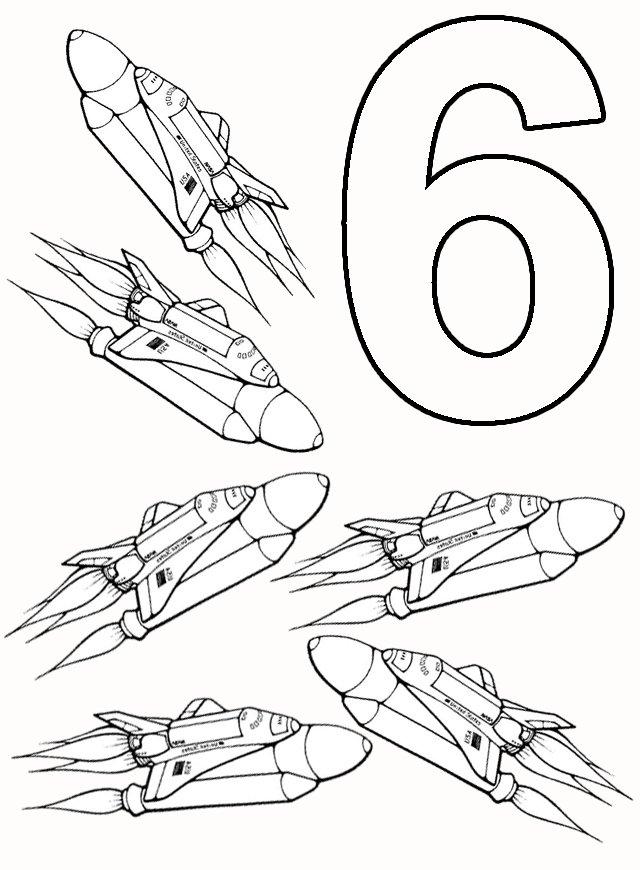 6 Rachete Plansa De Colorat Sfatulmamicilorro