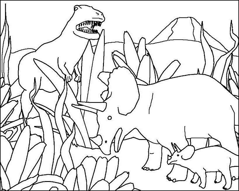 lumea dinozaurilor  plansa de colorat  sfatulmamicilorro