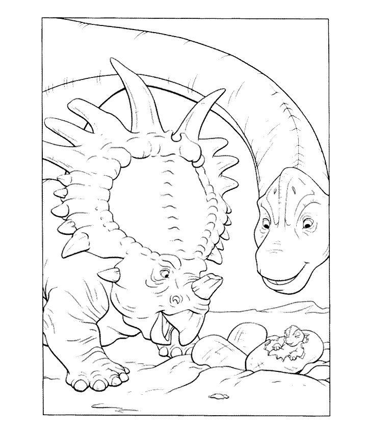 Planse De Colorat Cu Dinozauri Sfatulmamicilorro