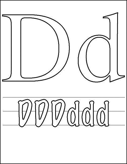 Kleurplaat Letter B Litera D Plansa De Colorat Sfatulmamicilor Ro
