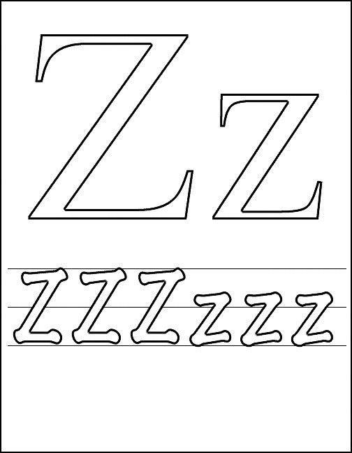 Litera Z Plansa De Colorat Sfatulmamicilorro