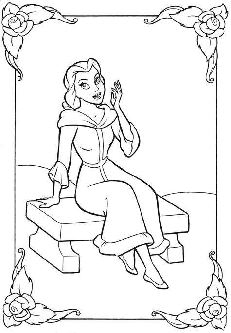 Printesa Frumoasa Belle Plansa De Colorat Sfatulmamicilorro