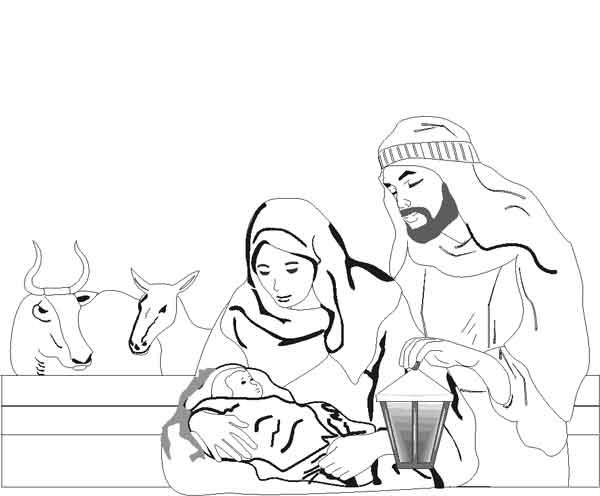 Nasterea Domnului Iisus Hristos Planse De Colorat