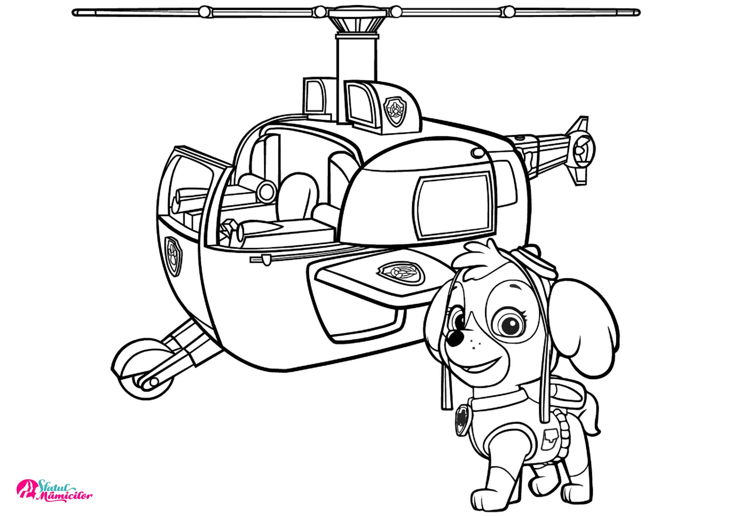Skye Si Elicopterul Plansa De Colorat Sfatulmamicilorro