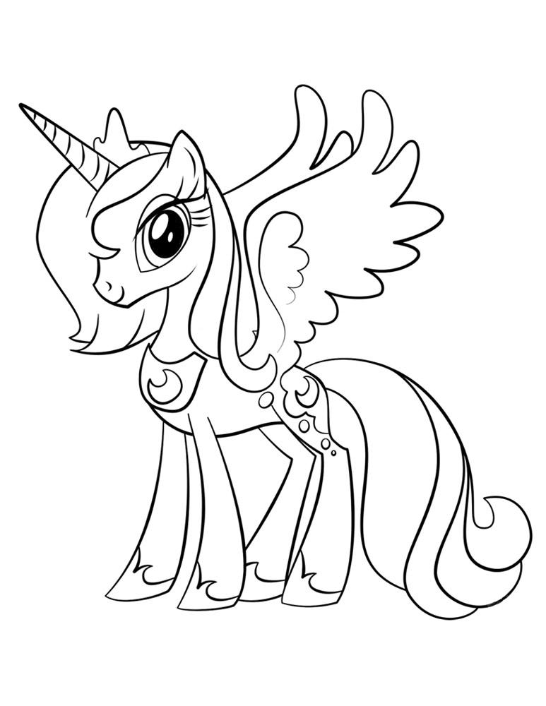 Princess Luna Plansa De Colorat Sfatulmamicilorro
