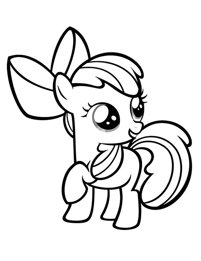 Apple Bloom - Plansa de colorat