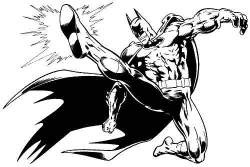 Lovitura De Picior A Lui Batman Plansa De Colorat