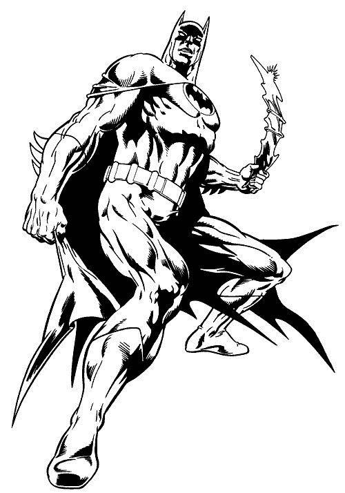 Costumul Lui Batman De Lupta Plansa De Colorat